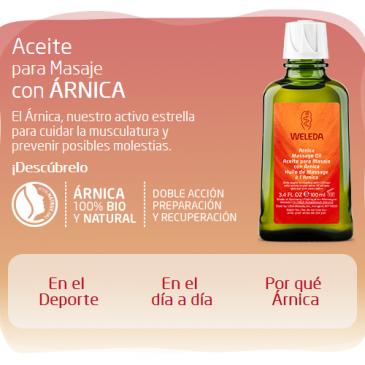 Aceite para masaje de árnica y caléndula de Weleda