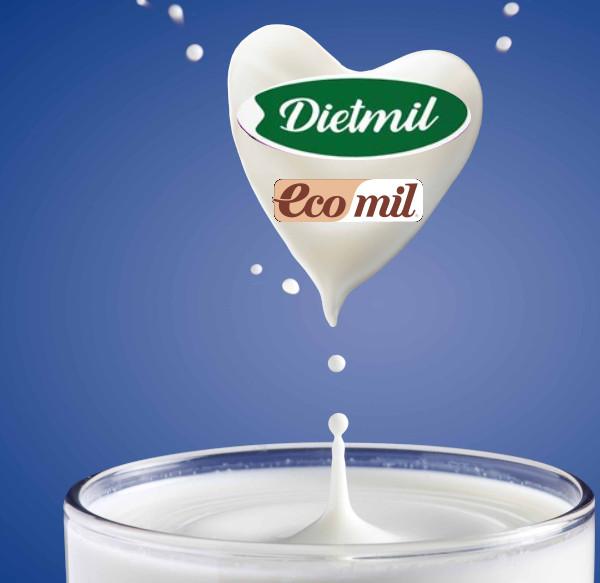 Bebidas Vegetales Ecomil y Dietmil de Nutriops