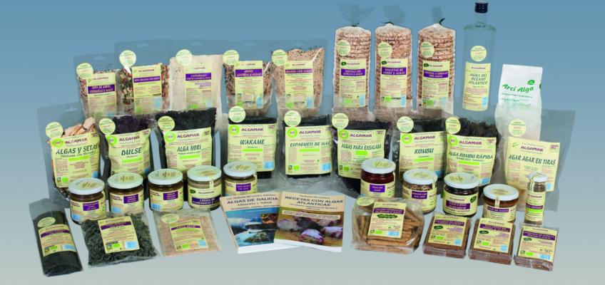 Gama de algas o verduras del mar de Algamar