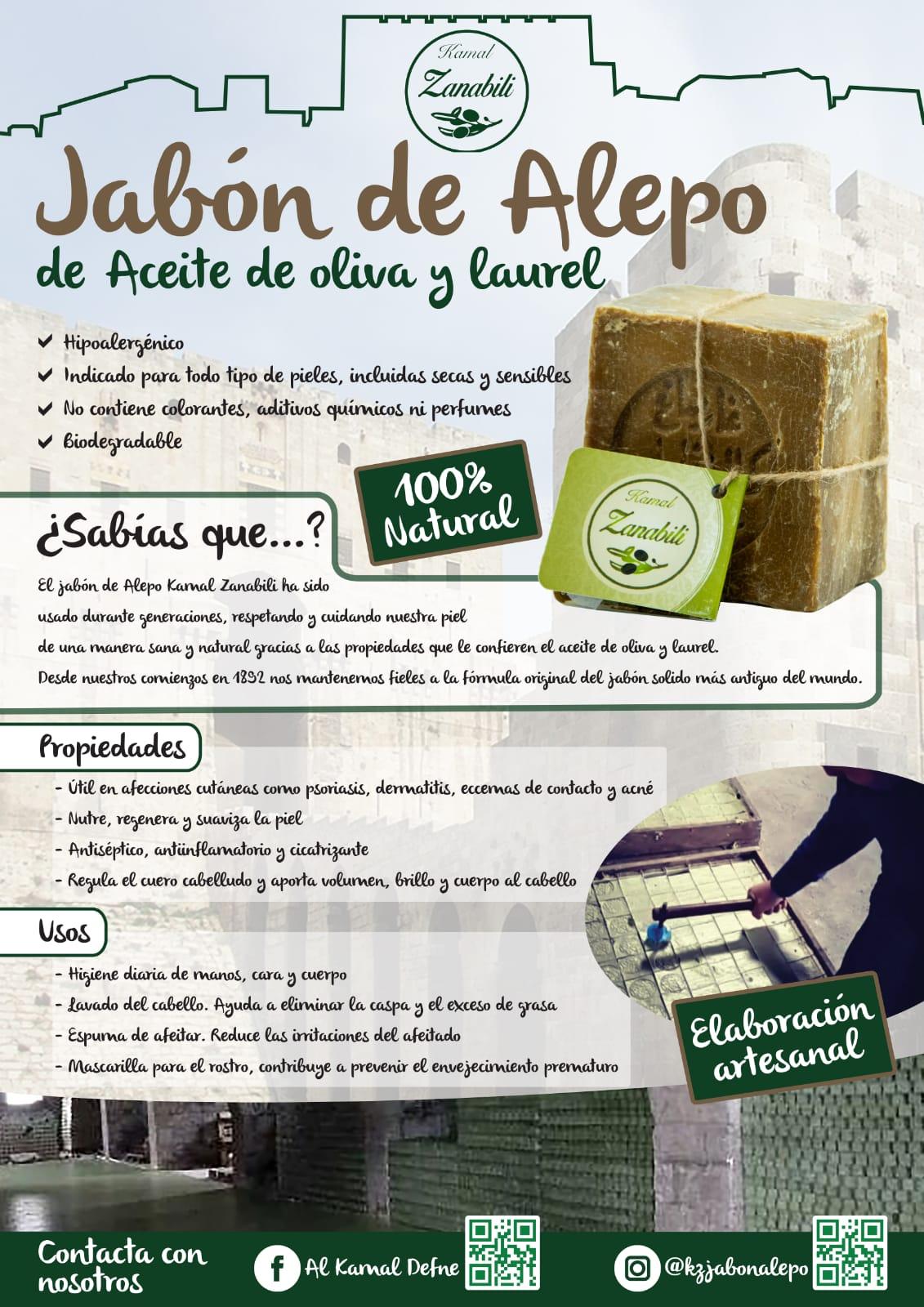 Jabón de Alepo información
