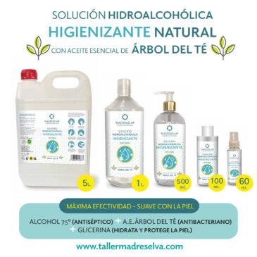 Solución Hidroalcohólica Higienizante Natural