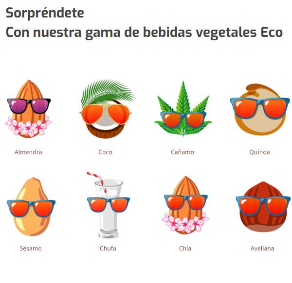 Ecomil gama ingredientes