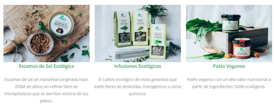 Conca Organics Escamas de sal ecológica, infusiones ecológicas y Patés Veganos