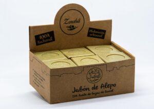 Jabón Álepo caja expositora