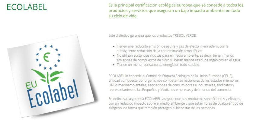 Trébol Verde Garantía Ecolabel